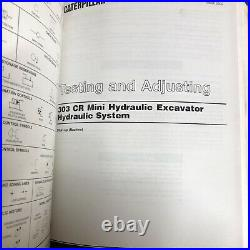 Cat Caterpillar 303CR Mini Excavator Service Manual