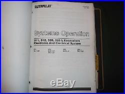 Cat Caterpillar 311 312 Excavator Service Shop Repair Manual Book S/n 9lg 6gk