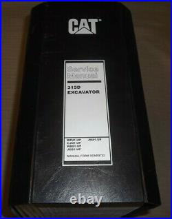 Cat Caterpillar 315d Excavator Service Shop Repair Manual Book Bzn Cjn Kbd Jgs
