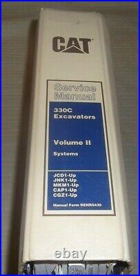 Cat Caterpillar 330c Excavator Service Shop Repair Book Manual Vol 2 Systems