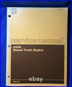 Cat Caterpillar 3406 Diesel Engine Truck Service Shop Repair Manual 92u1-up