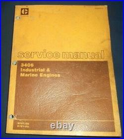 Cat Caterpillar 3406 Industrial & Marine Engine Service Repair Manual 90u 91u