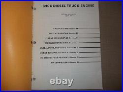Cat Caterpillar 3406 Truck Engine Service Shop Repair Book Manual S/n 92u1-up