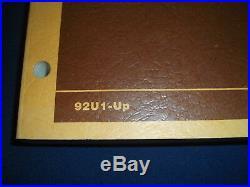 Cat Caterpillar 3406 Truck Engine Service Shop Repair Manual Book S/n 92u1-up