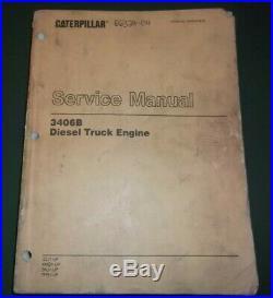 Cat Caterpillar 3406b Truck Service Shop Repair Manual Book 3zj 4mg 5kj 7fb