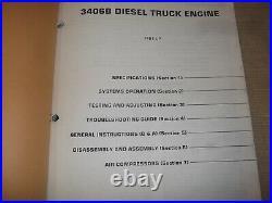 Cat Caterpillar 3406b Truck Service Shop Repair Manual Book 4mg 7fb