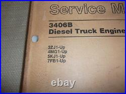 Cat Caterpillar 3406b Truck Service Shop Repair Manual Book S/n 4mg 7fb 3zj 5kj