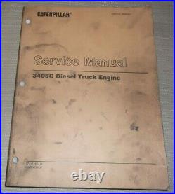 Cat Caterpillar 3406c Diesel Truck Engine Service Shop Repair Manual 3zj 5kj