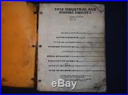 Cat Caterpillar 3412 Industrial Marine Engine Service Shop Repair Manual 38s 60m