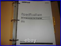 Cat Caterpillar 3412c Generator Set Engine Service Shop Repair Manual 2wj Bak