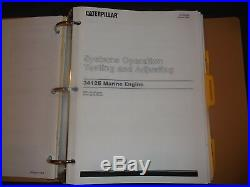 Cat Caterpillar 3412e Marine Engine Repair Service Manual S/n 9ks1-up 9pw1-up