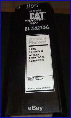 Cat Caterpillar 613c Series II Tractor Scraper Service Shop Repair Manual Book