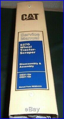 Cat Caterpillar 627g Wheel Tractor Scraper Service Shop Repair Manual Cex Cez