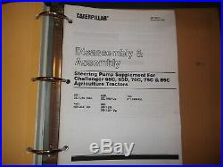 Cat Caterpillar 65d 75c 85c Challenger Tractor Service Shop Repair Book Manual