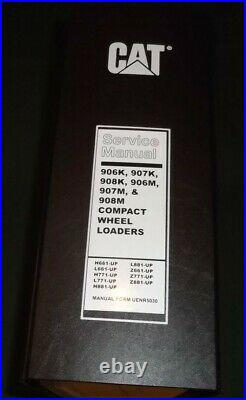 Cat Caterpillar 906k 907k 908k 906m 907m 908m Loader Service Shop Repair Manual