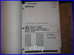 Cat Caterpillar 950g 962g Loader It62g Toolcarrier Shop Repair Service Manual I