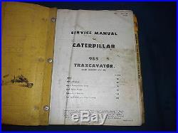 Cat Caterpillar 955 Traxcavator Loader Service Shop Repair Manual S/n 60a1-up