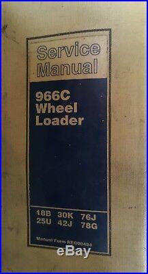 Cat Caterpillar 966c Wheel Loader Repair Service Manual
