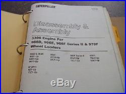 Cat Caterpillar 966f & 966f Series II Wheel Loader Shop Repair Service Manual