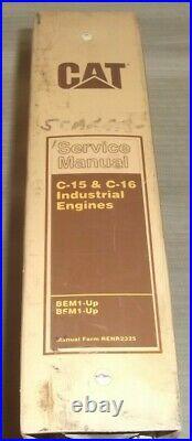 Cat Caterpillar C-15 C-16 Industrial Engine Service Shop Repair Manual Bem Bfm
