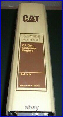 Cat Caterpillar C7 On Highway Diesel Engine Service Shop Repair Manual S/n Kal