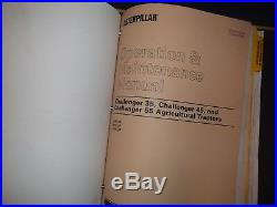 Cat Caterpillar Cahllenger 35 45 55 Tractor Service Shop Repair Manual Book