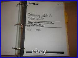 Cat Caterpillar Challenger 65d 75d 85d Tractor Service Shop Repair Manual Book