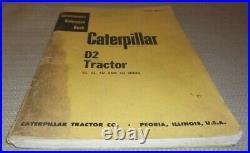 Cat Caterpillar D2 Tractor Dozer Service Shop Repair Manual Book S/n 3j 5j 4u 5u