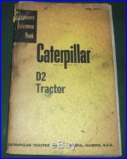 Cat Caterpillar D2 Tractor Dozer Service Shop Repair Manual Oem S/n 3j 5j 4u 5u