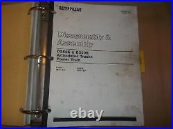 Cat Caterpillar D250e D300e Articulated Truck Service Shop Repair Manual Book