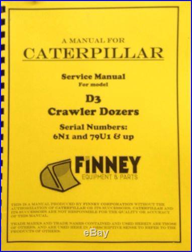Cat Caterpillar D3 Bulldozer Service Manual 79u 6n