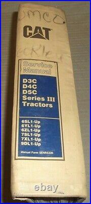 Cat Caterpillar D3c D4c D5c Series III Dozer Service Shop Repair Manual