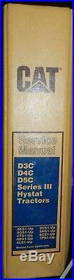 Cat Caterpillar D3c D4c D5c Series III Tractor Dozer Service Shop Repair Manual