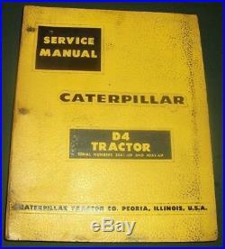 Cat Caterpillar D4 Crawler Tractor Dozer Service Shop Repair Book Manual 39a 40a