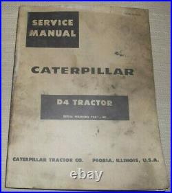 Cat Caterpillar D4 Crawler Tractor Dozer Service Shop Repair Manual Book 78a1-up