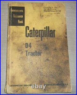 Cat Caterpillar D4 Tractor Dozer Service Repair Manual Oem 4g 7j 2t 5t 6u 7u