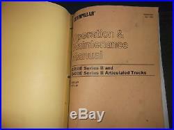 Cat Caterpillar D400e Series II Truck Service Shop Repair Manual Book S/n 8ps