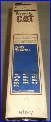 Cat Caterpillar D4d Crawler Tractor Dozer Service Shop Repair Manual Book