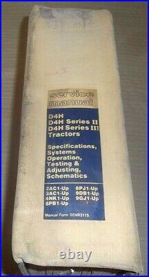 Cat Caterpillar D4h I II III Tractor Dozer Service Shop Repair Manual Book