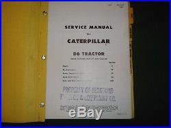 Cat Caterpillar D6 Crawler Tractor Dozer Service Shop Repair Manual Book 37a 44a