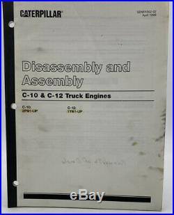 Cat Caterpillar Disassembly & Assembly Manual C10 C12 2PN 1YN Service 19-3048CT