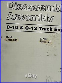 Cat Caterpillar Disassembly & Assembly Manual C10 C12 8YS 9NS Service 19-3048CU