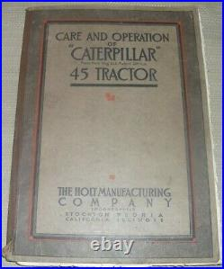 Cat Caterpillar Holt 45 Tractor Dozer Care Operation Service Shop Repair Manual