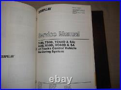 Cat Caterpillar T40d T50d Tc60d Sa Forklift Lift Truck Service Repair Manual