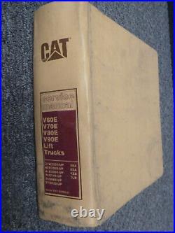 Cat Caterpillar V80E V90E Lift Truck Forklift Shop Service Repair Manual 37W2525