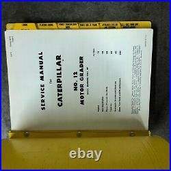 Cat N0. 12 Motor Grader Service Manual Industrial 73g1-up