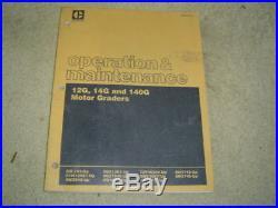 Caterpillar 12G 14G 140G motor grader service manual