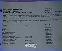 Caterpillar 140H 160H Motor Grader Shop Service Repair Manual disassembly book
