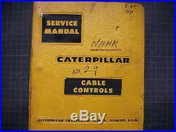 Caterpillar 29 Cable Control Repair Shop Service Manual