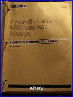 Caterpillar 302.5 Mini Hydraulic Excavator factory service manual 4AZ1-up OEM